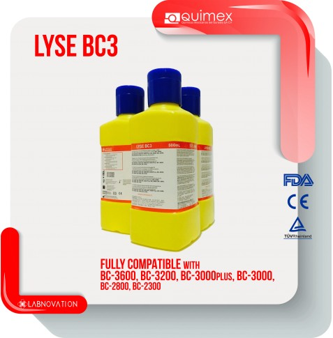 LYSE PARA MINDRAY BC3 500ML LABNOVATION